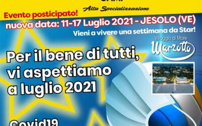 Evento posticipato al 2021