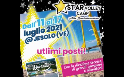Star Volley Camp 2021, ultimi posti!